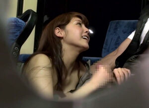 Blowjob on public bus
